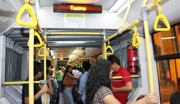 Bus articulado - detalle